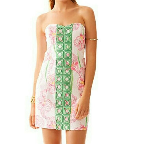 dd108bda567fa6 Brand New Size 0 Lilly Pulitzer Dress! Gorgeous brand new Lilly Pulitzer  Angela dress. Size 0. 100% cotton exterior and lining. Lovely emerald  stitching.