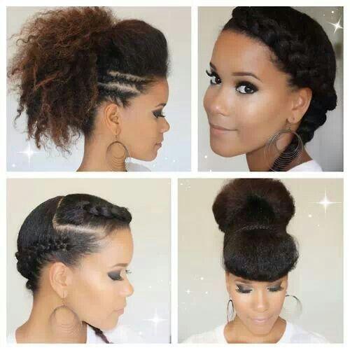 4 trenzas | Peinados | Peinados afro, Cabello rizado y Pelo afro