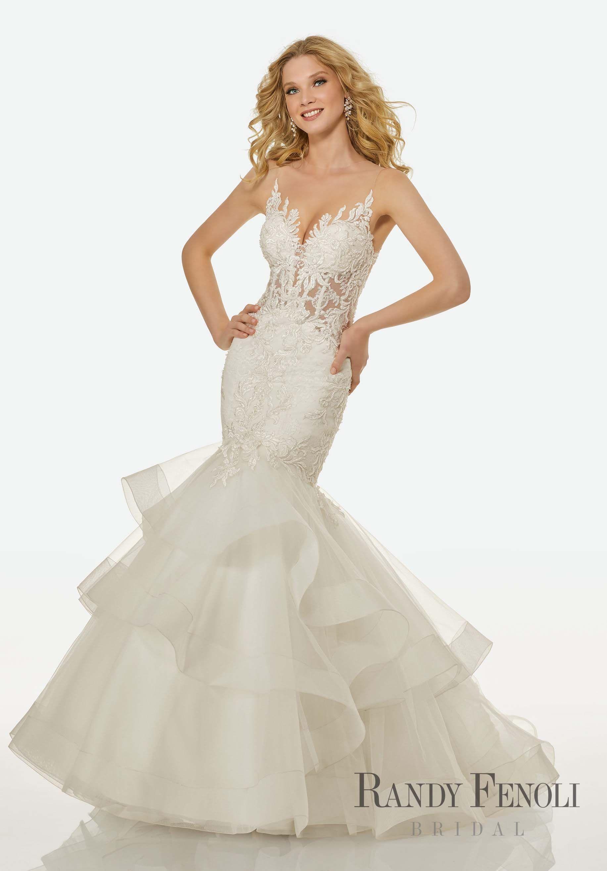 Randy Fenoli Bridal, Collins Wedding Dress | Style 3414. Illusion V ...