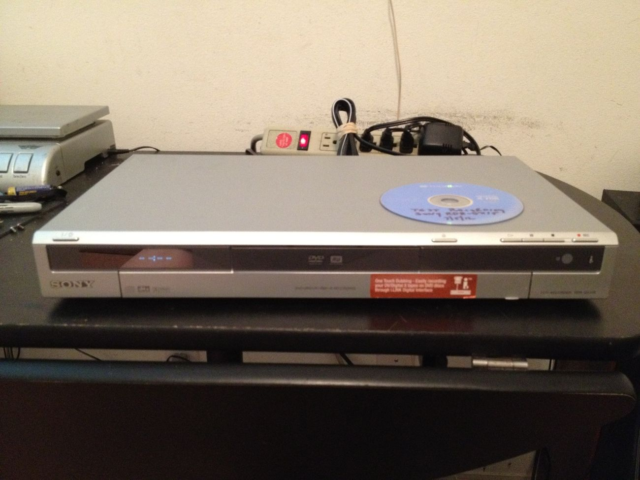 Sony RDR-GX315 DVD Recorder / Player. This slim, silver finish Sony  Recorder is in very good to excellent condition. It has been tested and is  working.