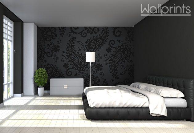 Kamer Kleuren Ideeen : Slaapkamer behangen ideeen met bloemen behang