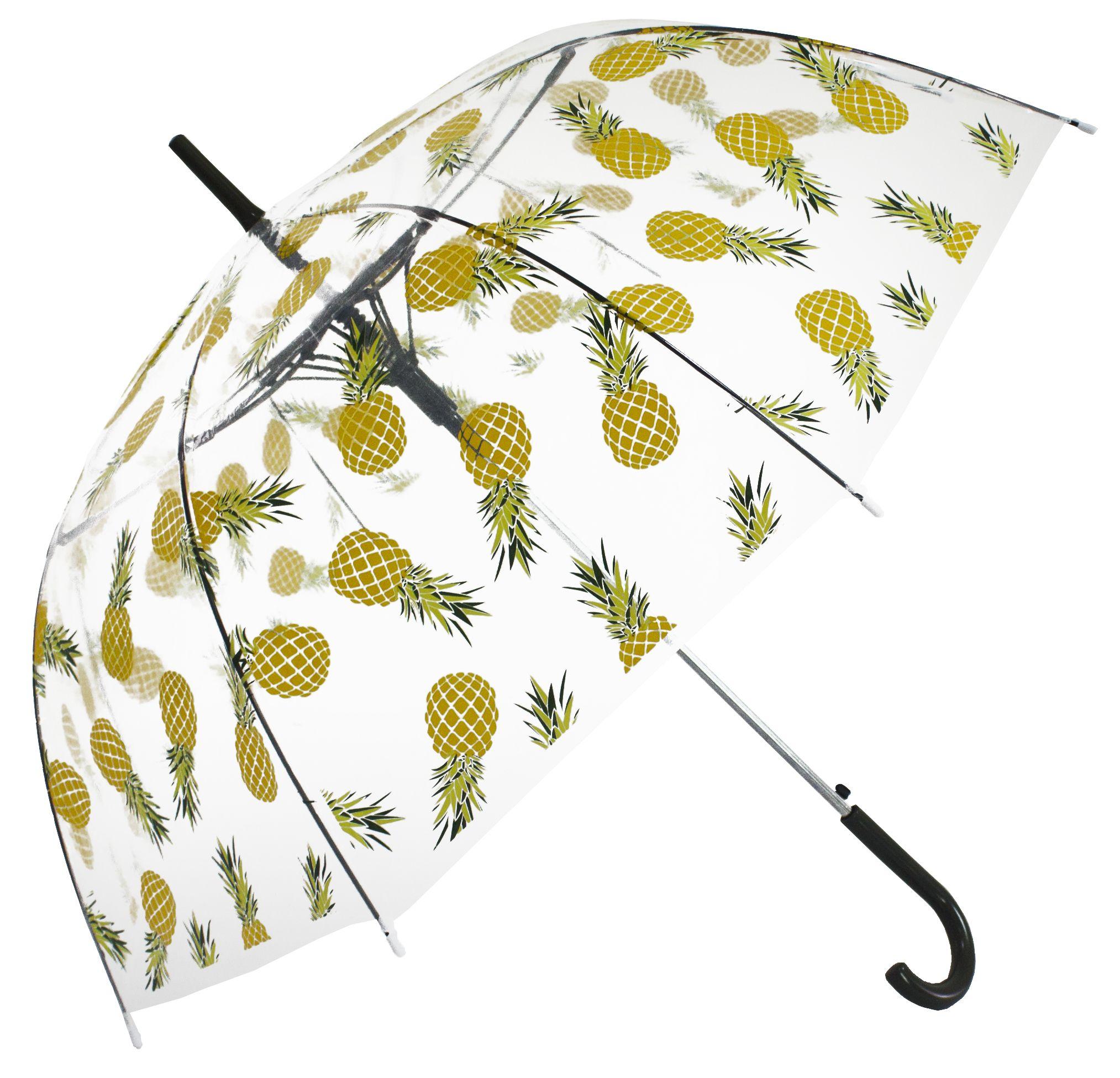 Yellow Pineapple Transparent Umbrella #clearumbrella