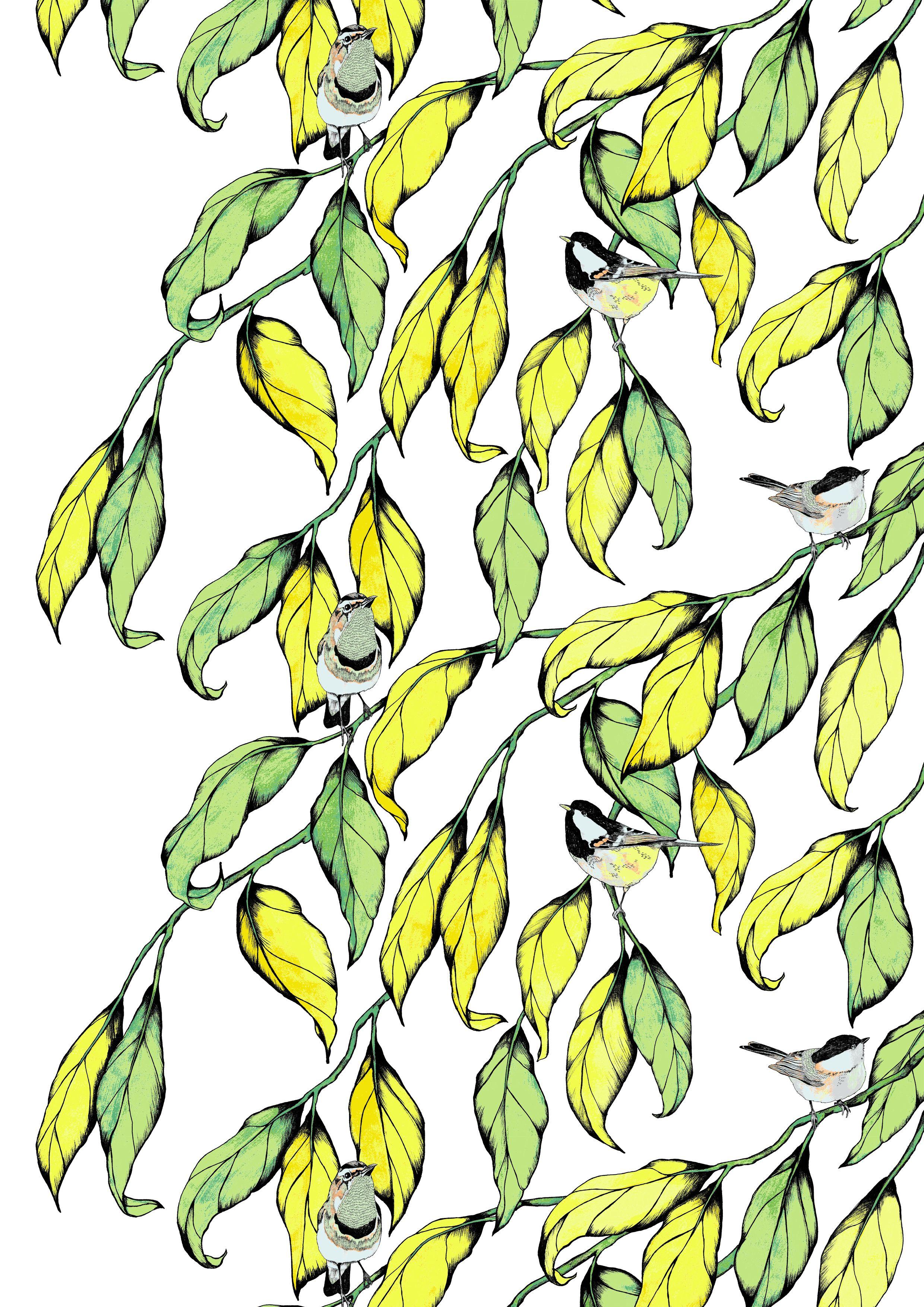 Tiaiset, yellow, design By Vilma Pellinen