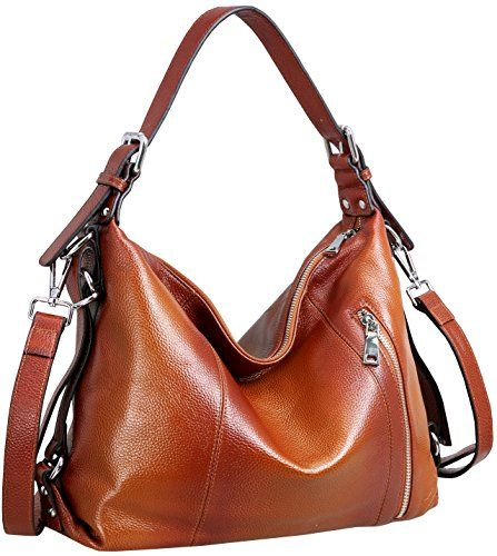 7f4ff67f42e Yafeige Women's Vintage Soft Genuine Leather Tote Shoulder Bag Top ...