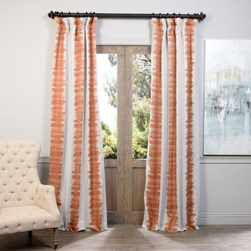Orange Flambe 50 X 108 Inch Blackout Curtain