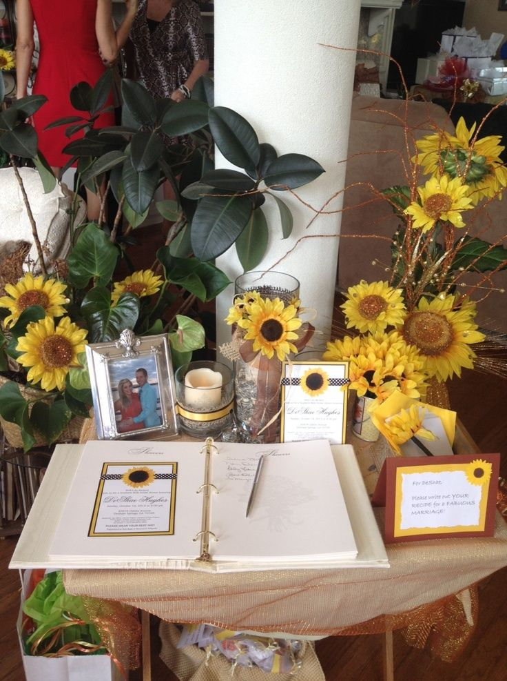 sunflower themed bridal shower
