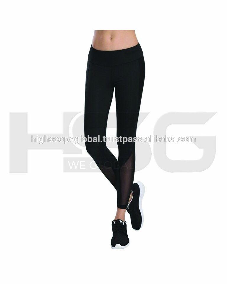f46472759b53e Customized Fitness Fashion Sports Yoga pants women legging mesh sport  leggings