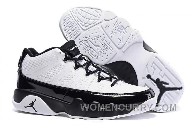 low priced 0a2dd afab9 Mens Air Jordan 9 Low White Black For Sale T5FAr, Price   80.69 - Women  Stephen Curry Shoes Online