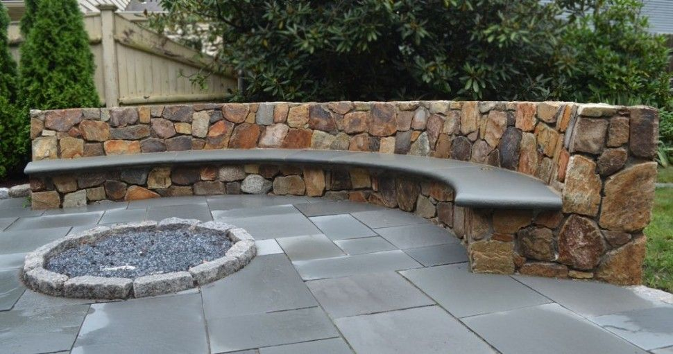Exteriorcool Outdoor Patio Design Using Curved Stone