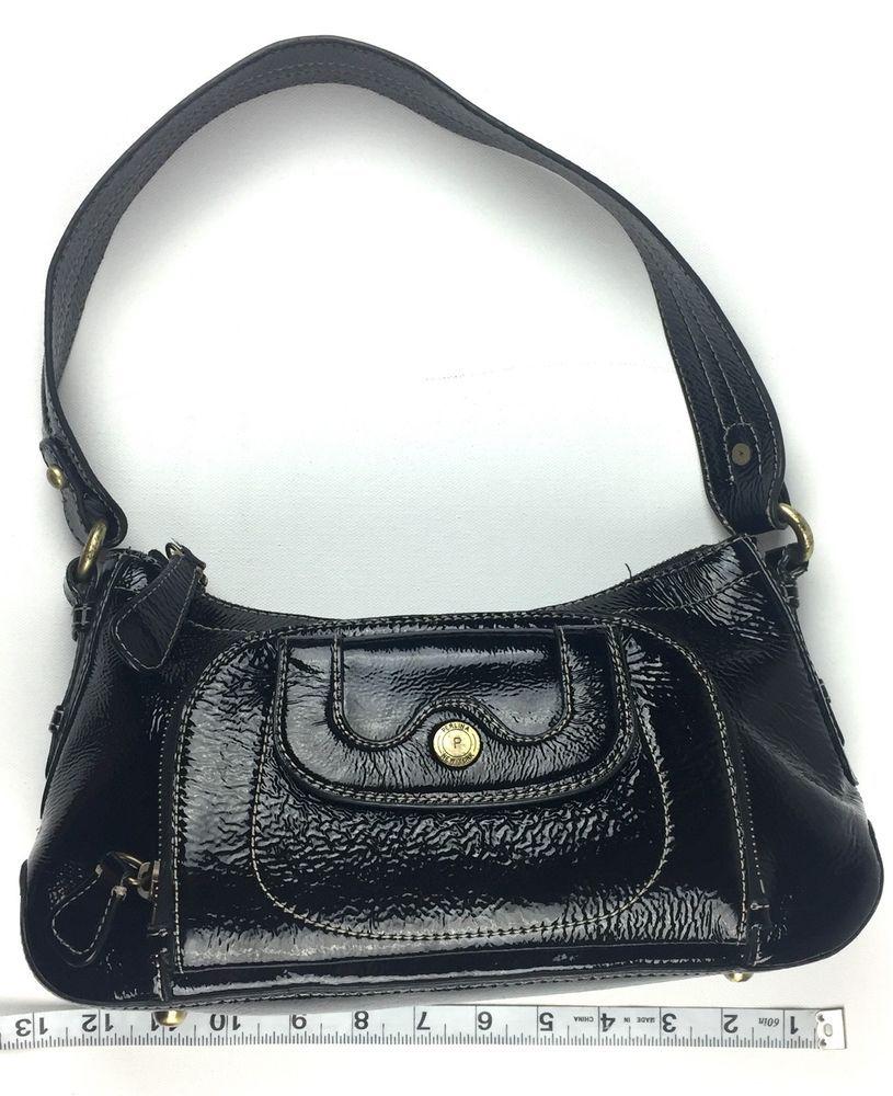5c62fab174 Perlina Patent Leather Purse Black Zip Top Single Handle Handbag  Perlina   Satchel  Purse  Patent  Leather  Black