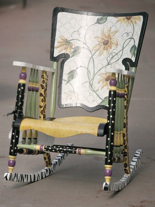 The flower chair by Craig High School teacher Dona Stegeman.