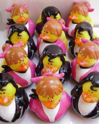 One Dozen - 50's Theme Rubber Ducky Duck Duckie Sock Hop