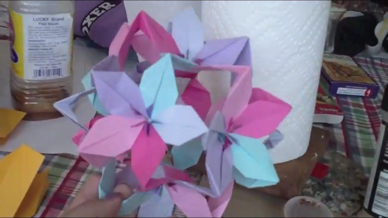 Passion Flower Ball Origami Origami Pinterest Flower Ball