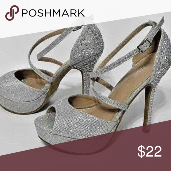 7b04ba6afdc Delicacy womens Silver embellished high heels 6.5 Brand: Delicacy ...