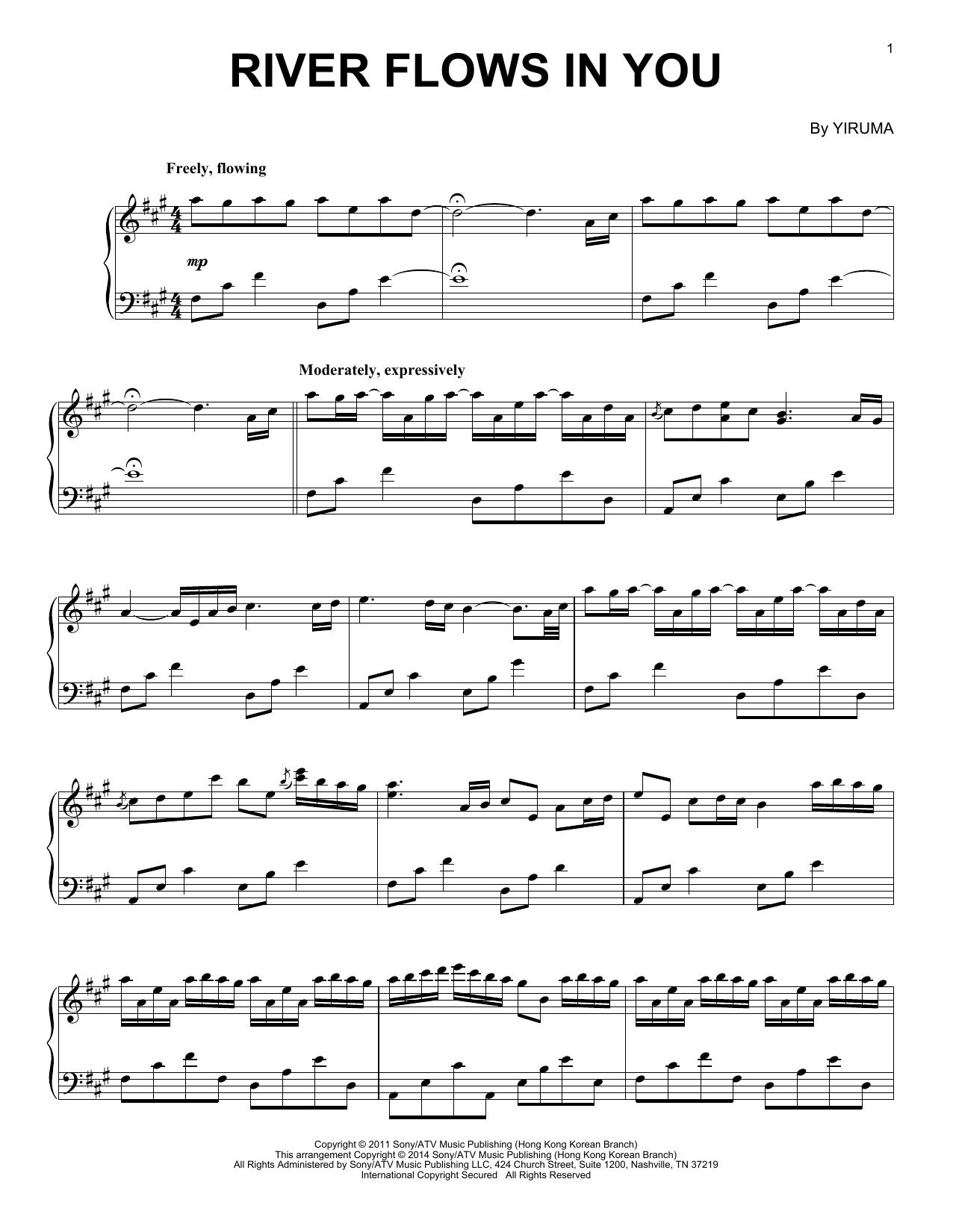 River Flows In You Piano Sheet Music Music Piano Sheetmusic Notes Sheet Music Notes River Flow In You Piano Sheet Music