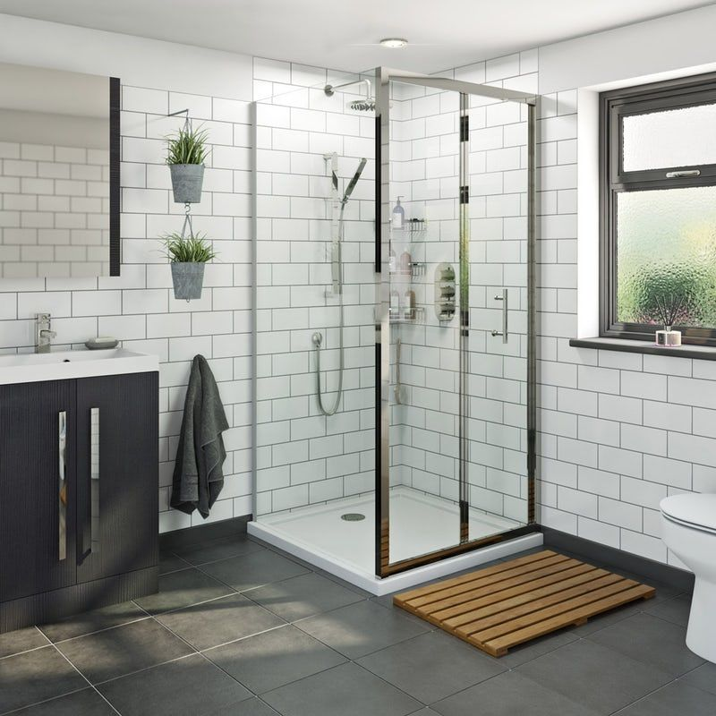 Orchard 6mm Bifold Square Shower Enclosure With Stone Tray Rectangular Shower Enclosures Square Shower Enclosures Stone Shower