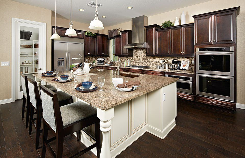Design Inspiration: A gorgeous, modern Pulte kitchen, featuring ...
