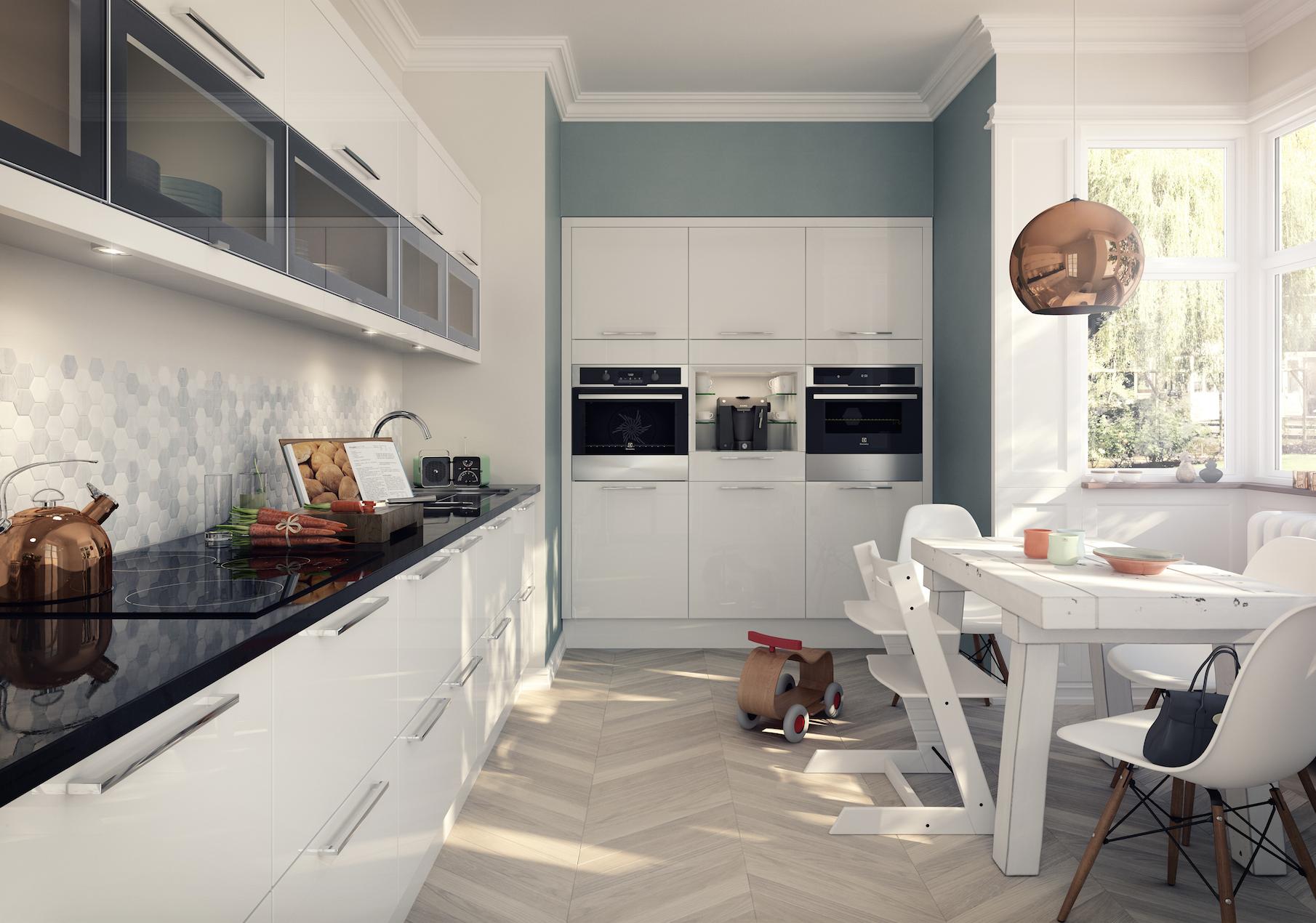Studio White fitted kitchen by whitekitchen