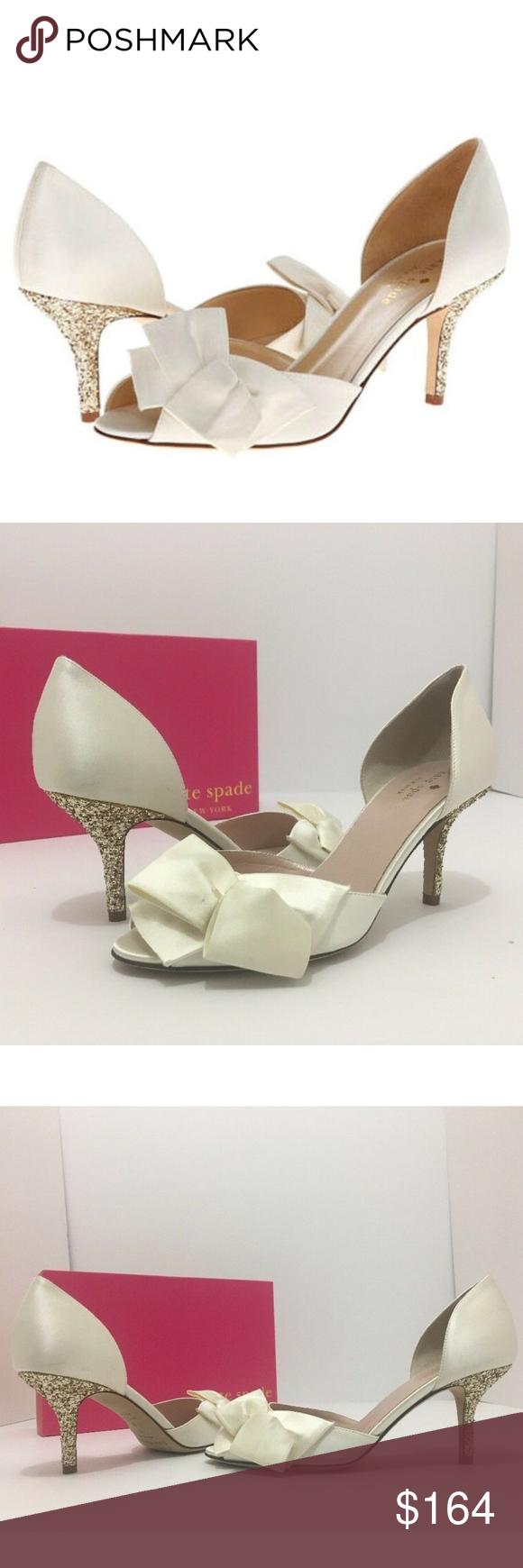 5a265030c288 Kate Spade Bridal Heels Pumps Ivory Shoes 7 M Kate Spade New York Sala Ivory  Satin