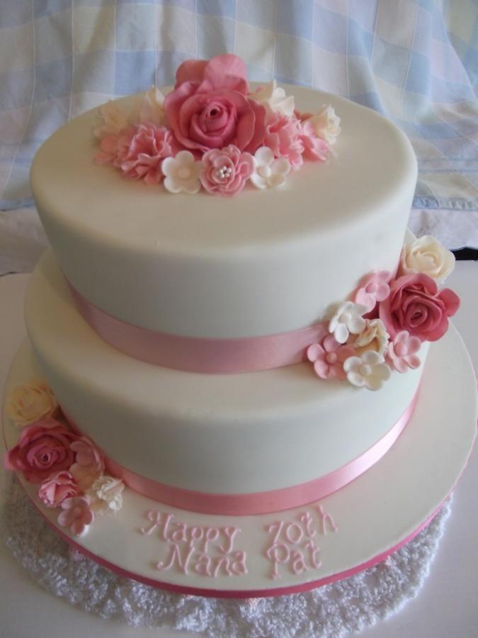 Elegant 70th Birthday Cake Cake By Judedude My Cake In 2019