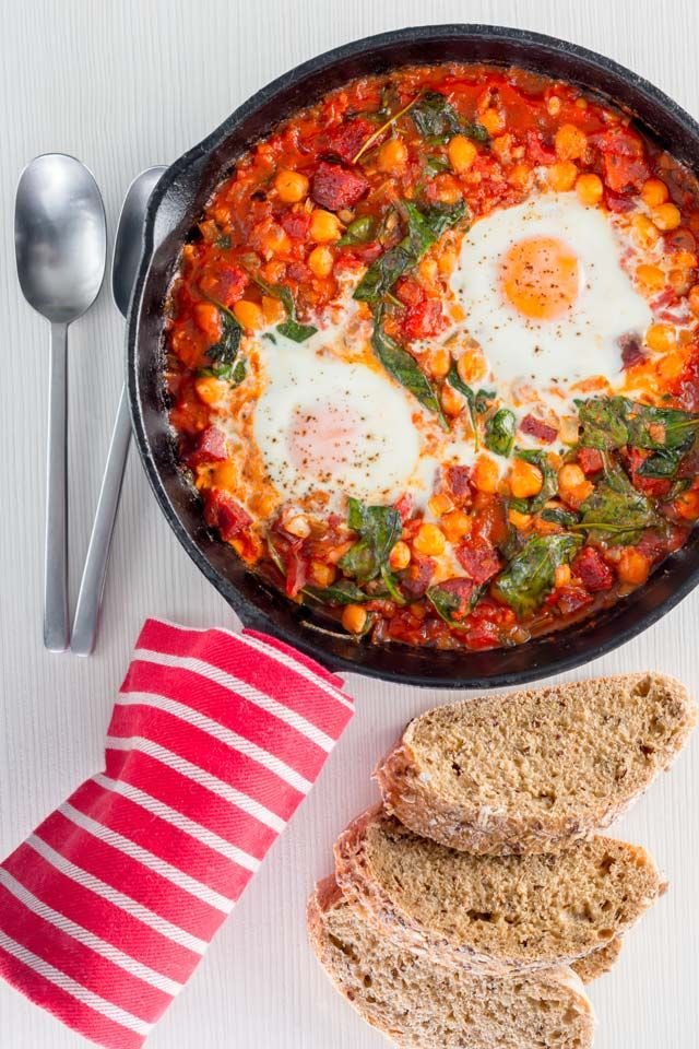 Baked Chickpea And Tomato Skillet Recipes Breakfast