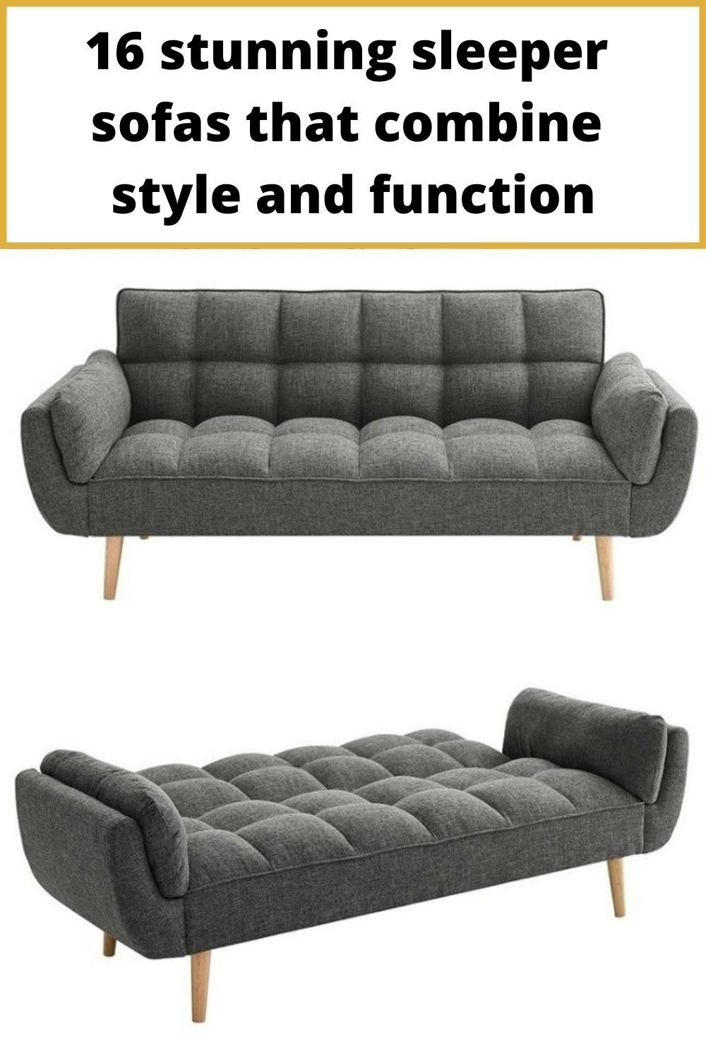16 Stunning Sleeper Sofas That Combine Style And Function Living In A Shoebox In 2020 Sleeper Sofa Furniture For Small Spaces Grey Sofa Bed