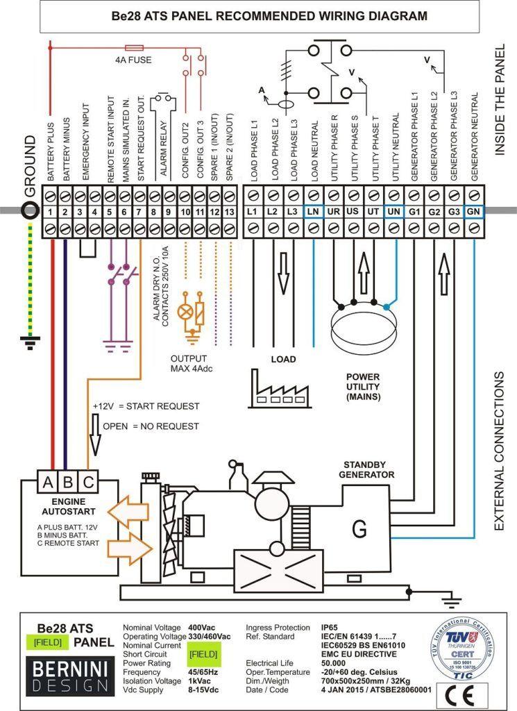 Diagrama de cableado del interruptor de transferencia del