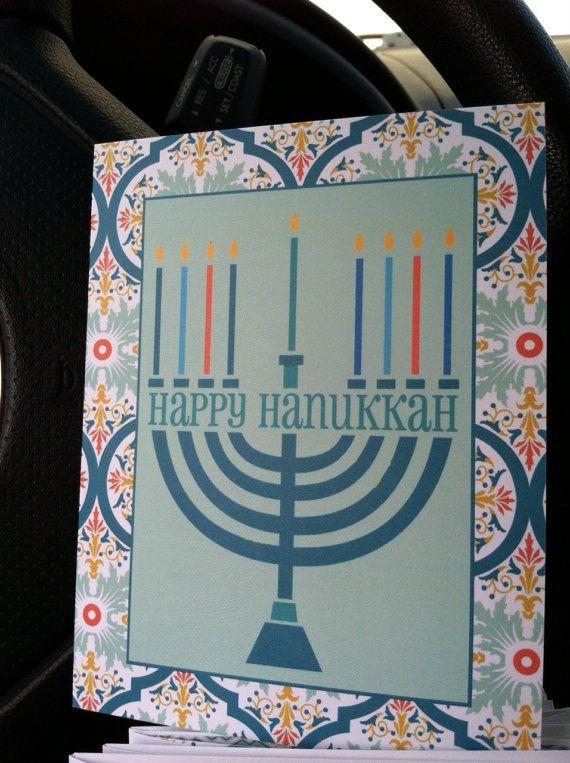Hanukkah Greetings by CardsbyCaren on Etsy, $5.00