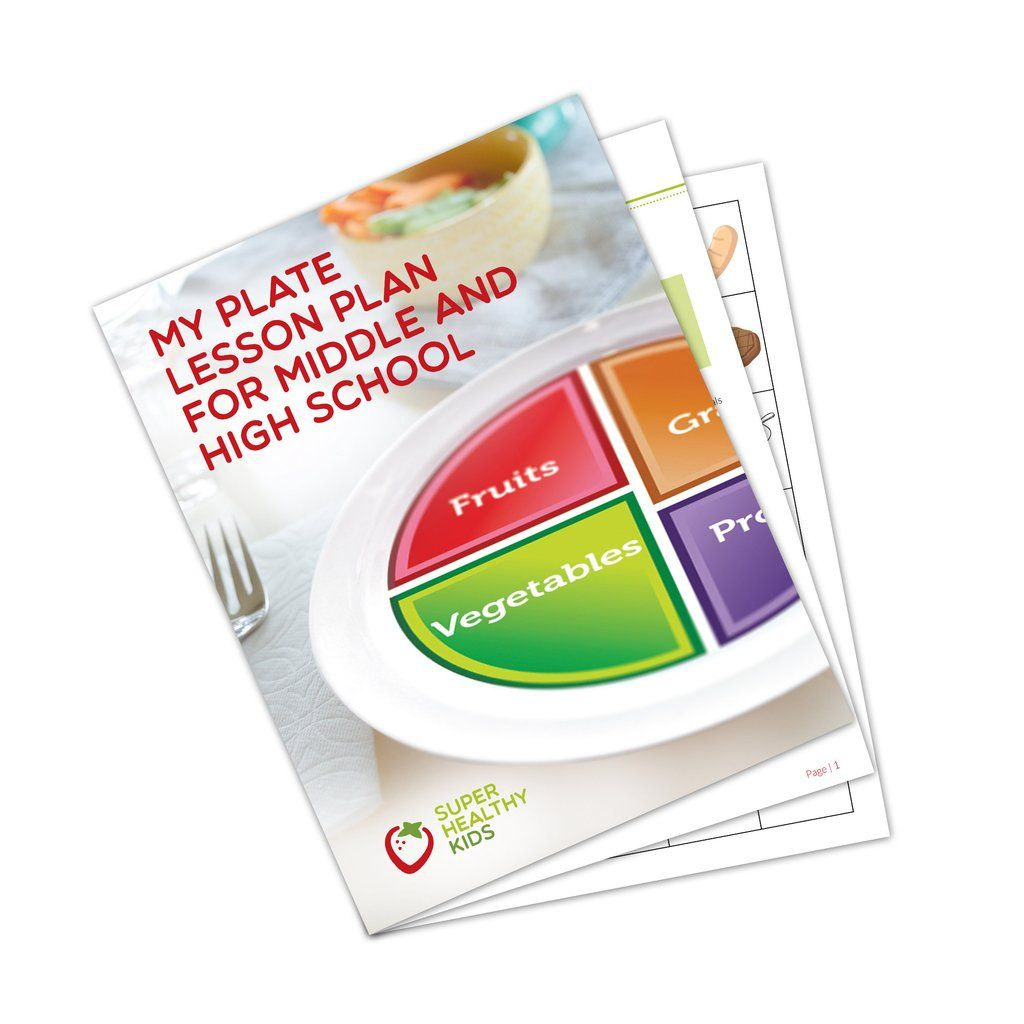 Choose Myplate Lesson Plan For Middle And High School