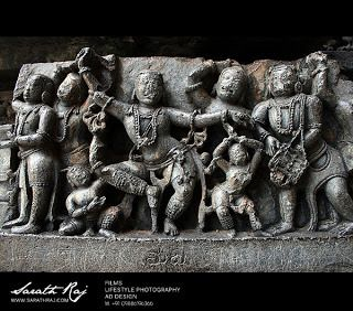 The Ruined City Halebidu or Dorasamudra or Dwarasamudra. The regal capital of the Hoysala Empire in the 12th century.