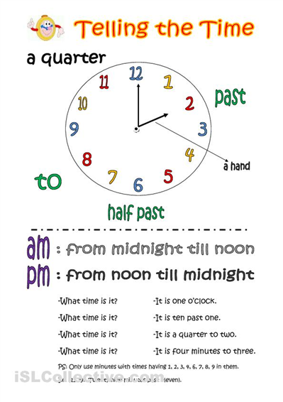 how to ask for the time in english