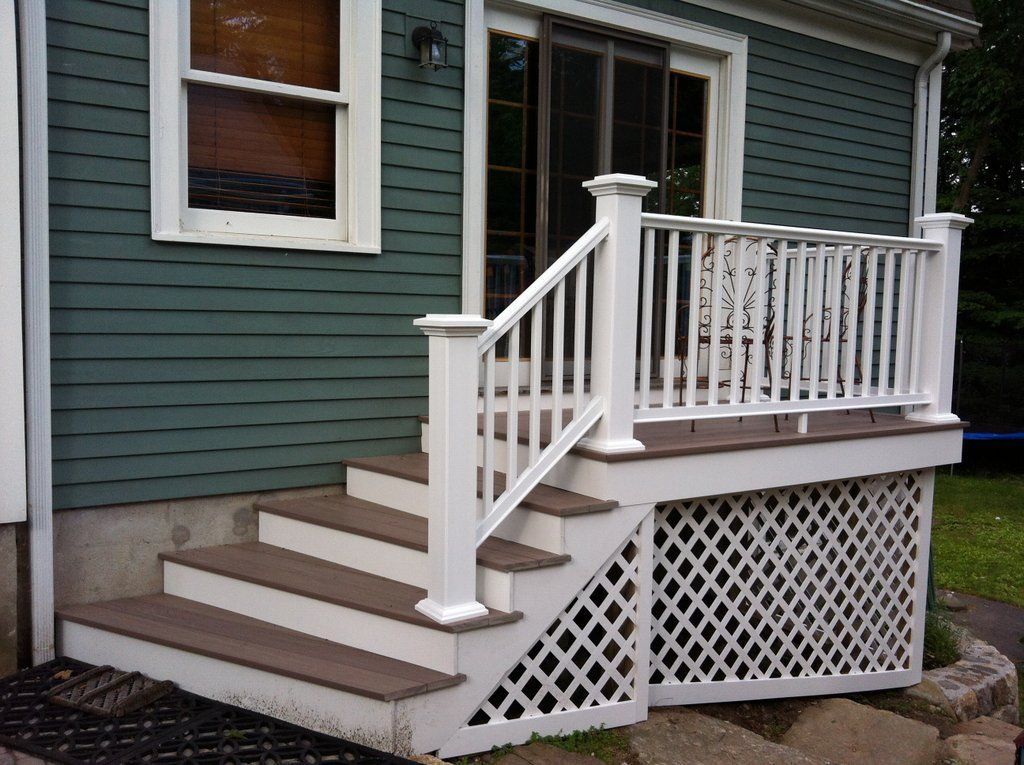 Best Small Composite Vinyl Deck Patio Stairs Backyard Porch 400 x 300