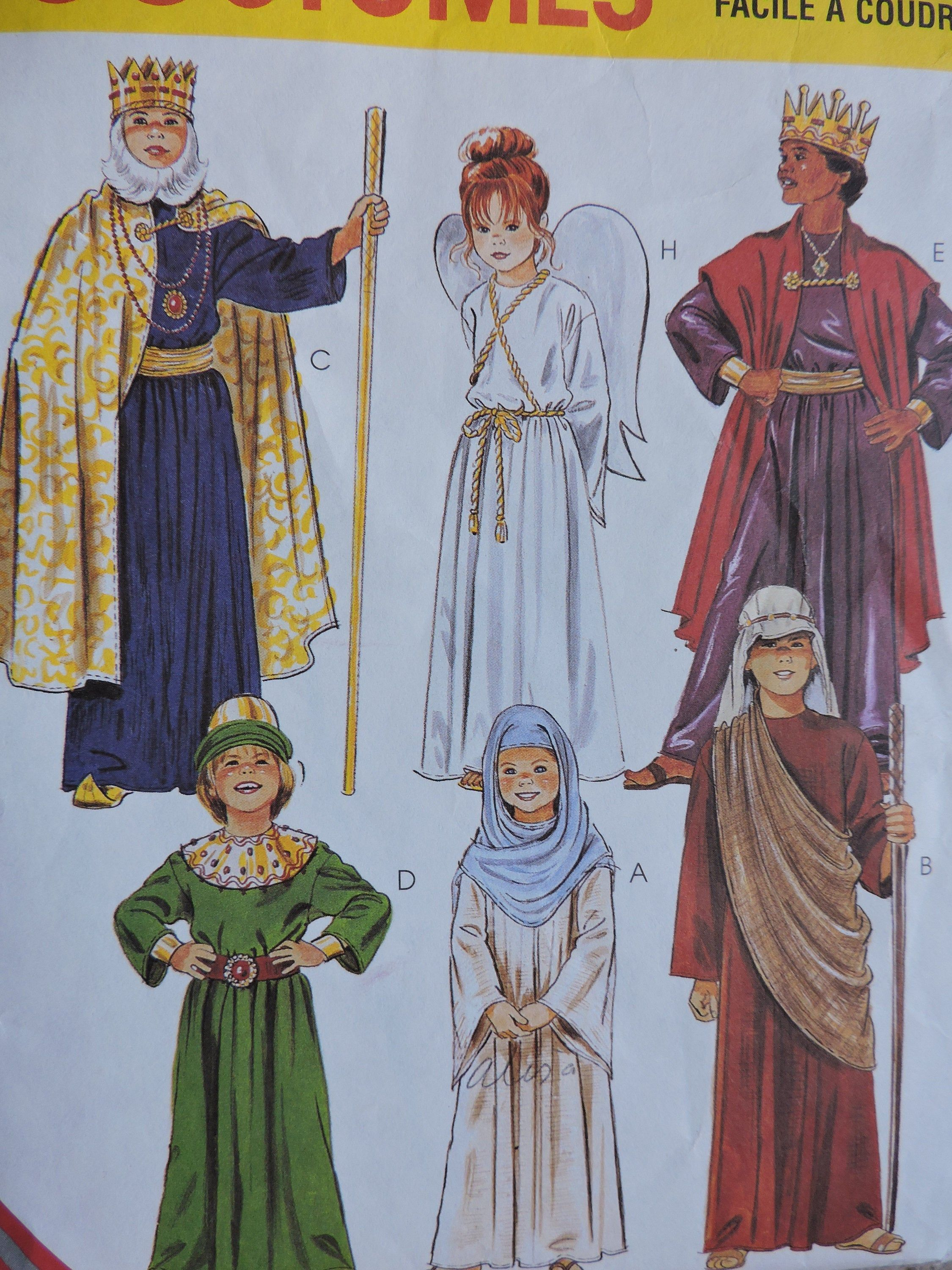 Nativity Christmas Story Costumes Child's The Pageant