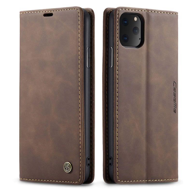 Caseme iphone 11 pro max retro matte soft leather wallet