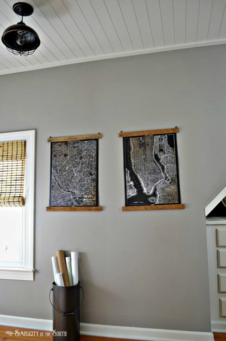 Cheap and Easy DIY Wooden Poster Hangers | Pinterest