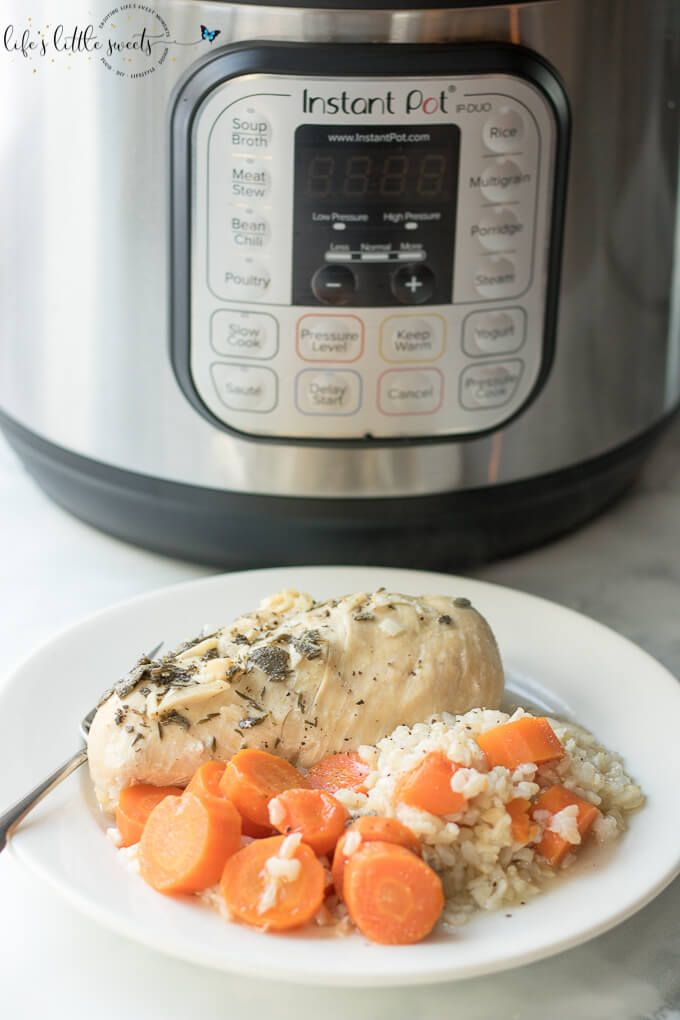Instant Pot Chicken Carrots Brown Rice Dinner Recipe