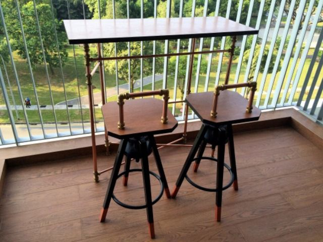 22 Dalfred bar stool hack in industrial style - DigsDigs - 22 Dalfred Bar Stool Hack In Industrial Style - DigsDigs