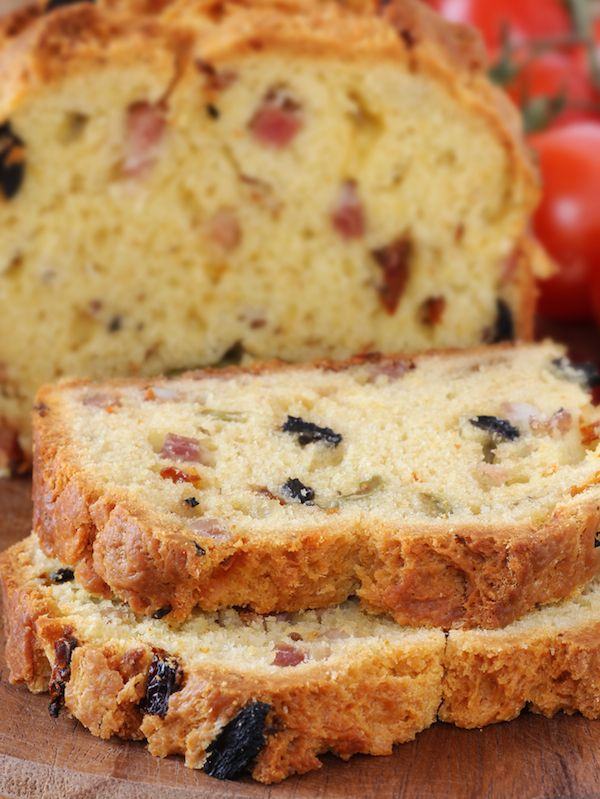 Cake Olives Lardons Conservation