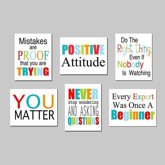 Classroom Decor Classroom Art Classroom Wall Art School Etsy Classroom Walls Inspirational Classroom Quotes Playroom