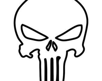punisher skull outline patterns skulls sugar skulls