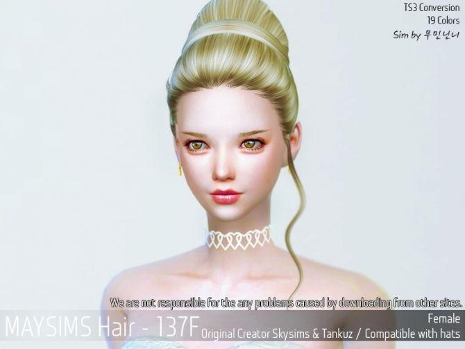 Hair 137F (SkySims) at May Sims • Sims 4 Updates