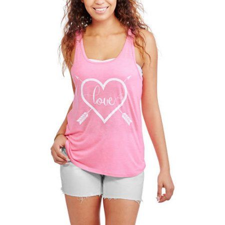 No Boundaries Juniors' Bandeau and Strappy Back Tank 2Fer, Pink