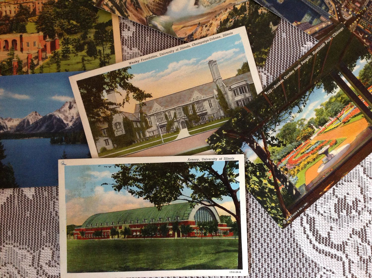 Vintage Linen Postcards From The 1940'S Of Various Places In The Usa