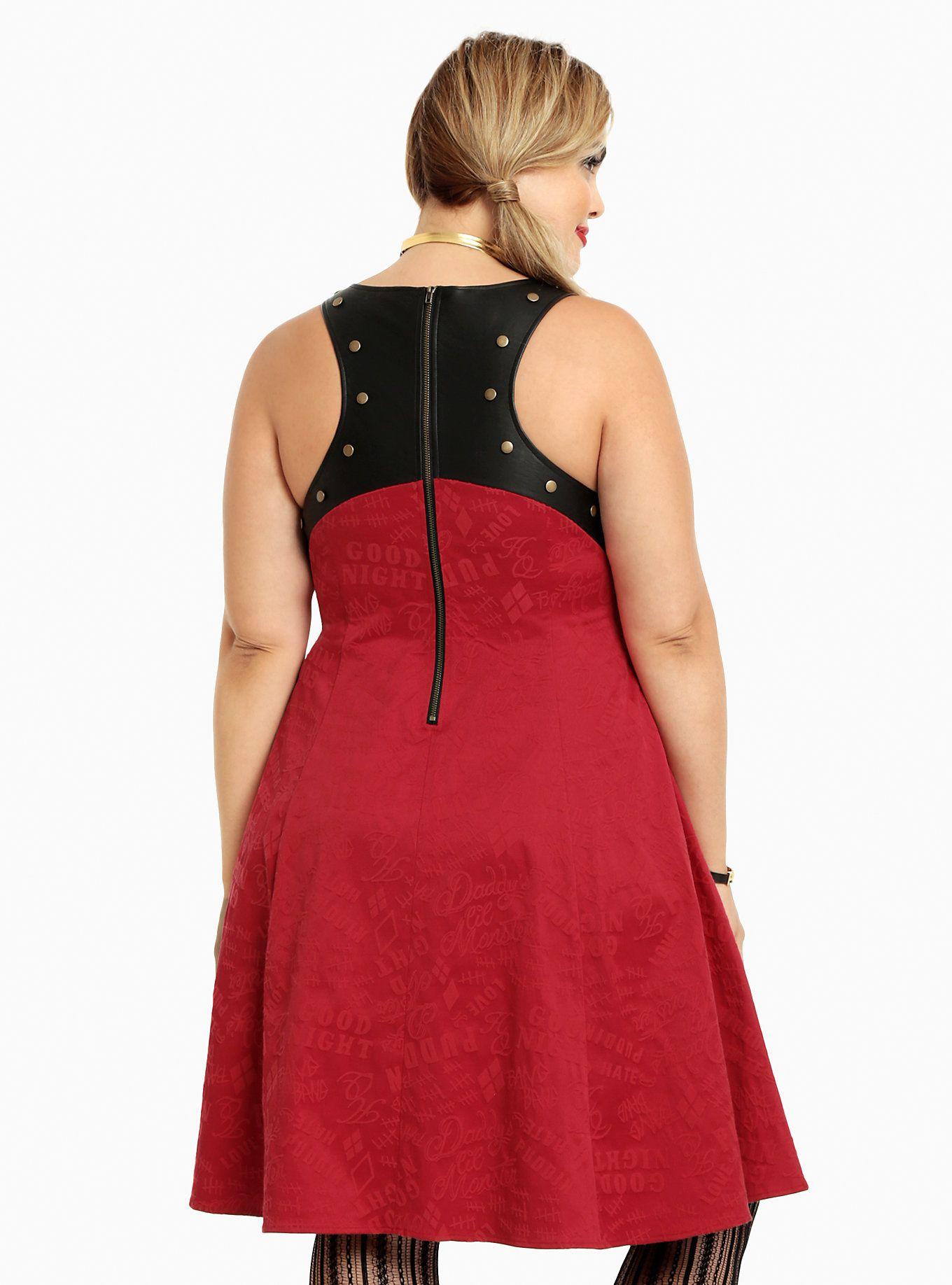 Dress size 24 torrid dress 24 torrid black and white draped v neck - Suicide Squad Collection Harley Quinn Holster Dress Torrid