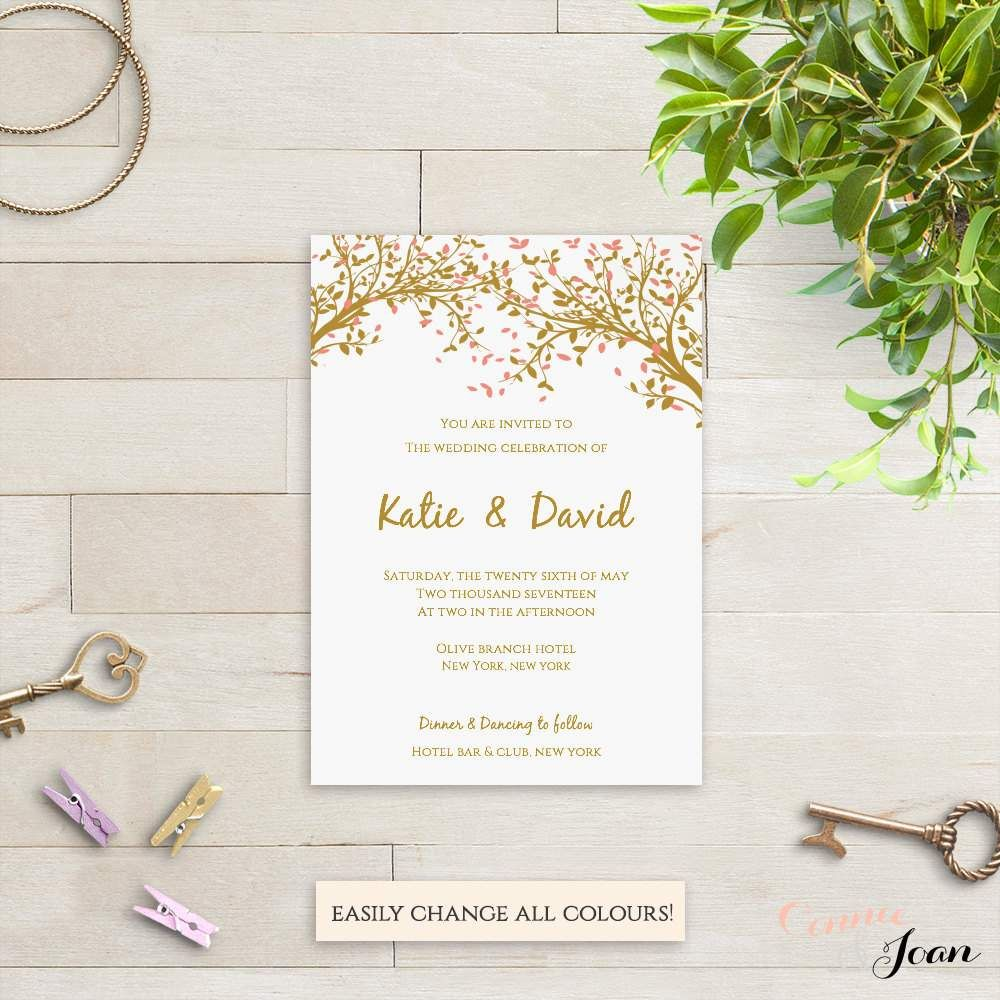 Free Online Wedding Invitation Templates | Bridal + Wedding ...