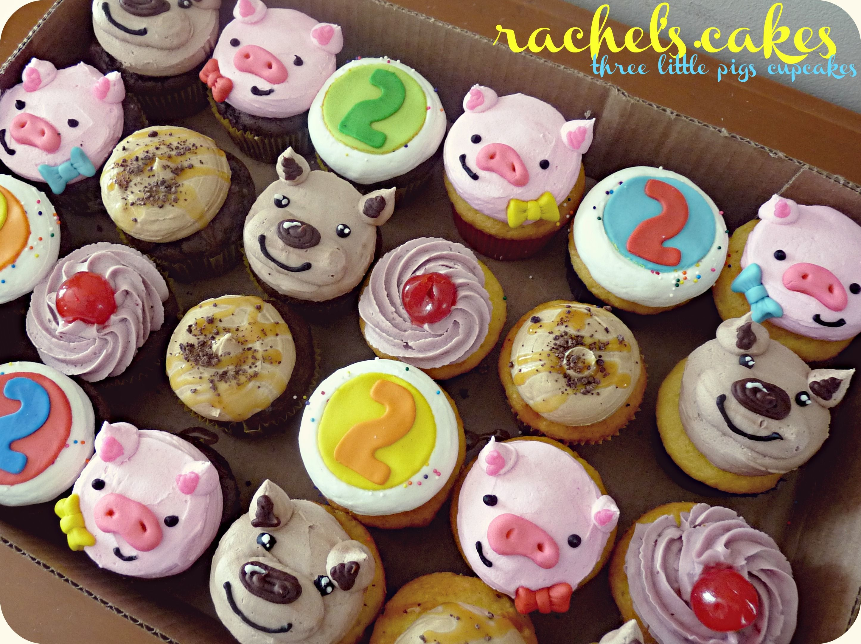 three little pigs and the big bad wolf cupcakes by blissfulbites