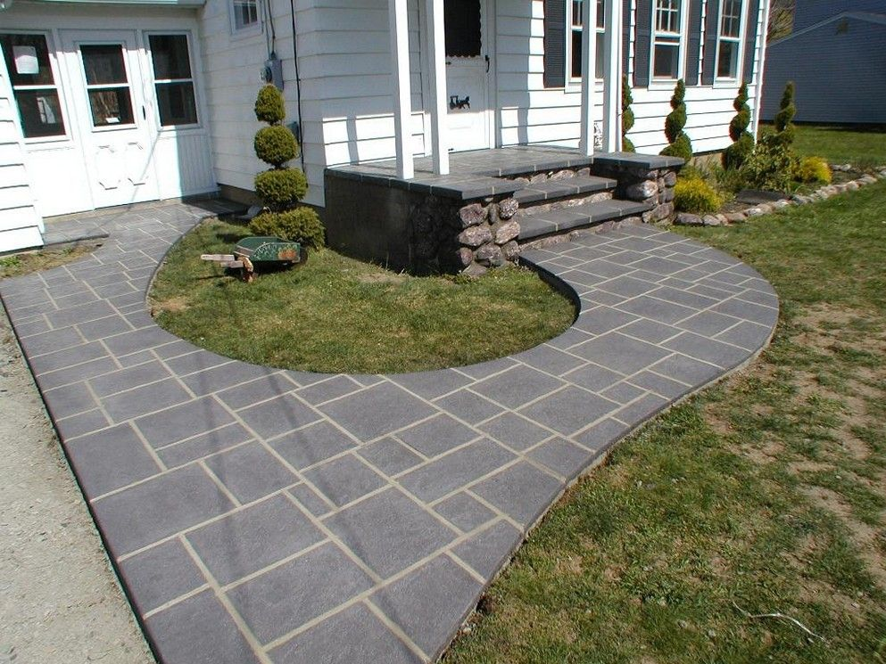 simple concrete patio designs nice with