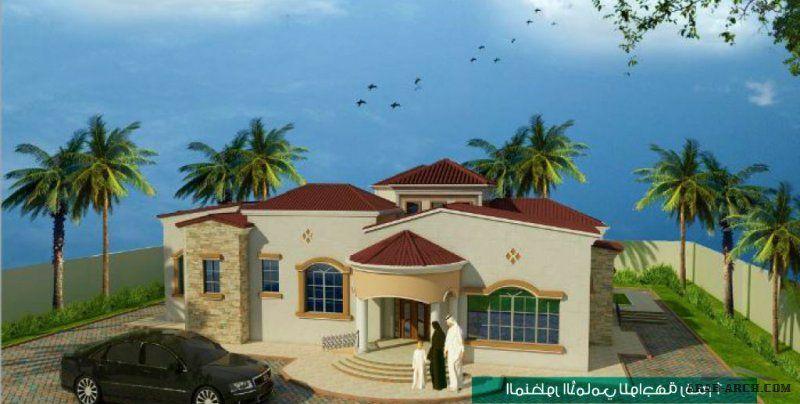 مخطط الفيلا 561 متر مربع طابقين رووف غرف نوم 4 2 House Styles House Design Mansions