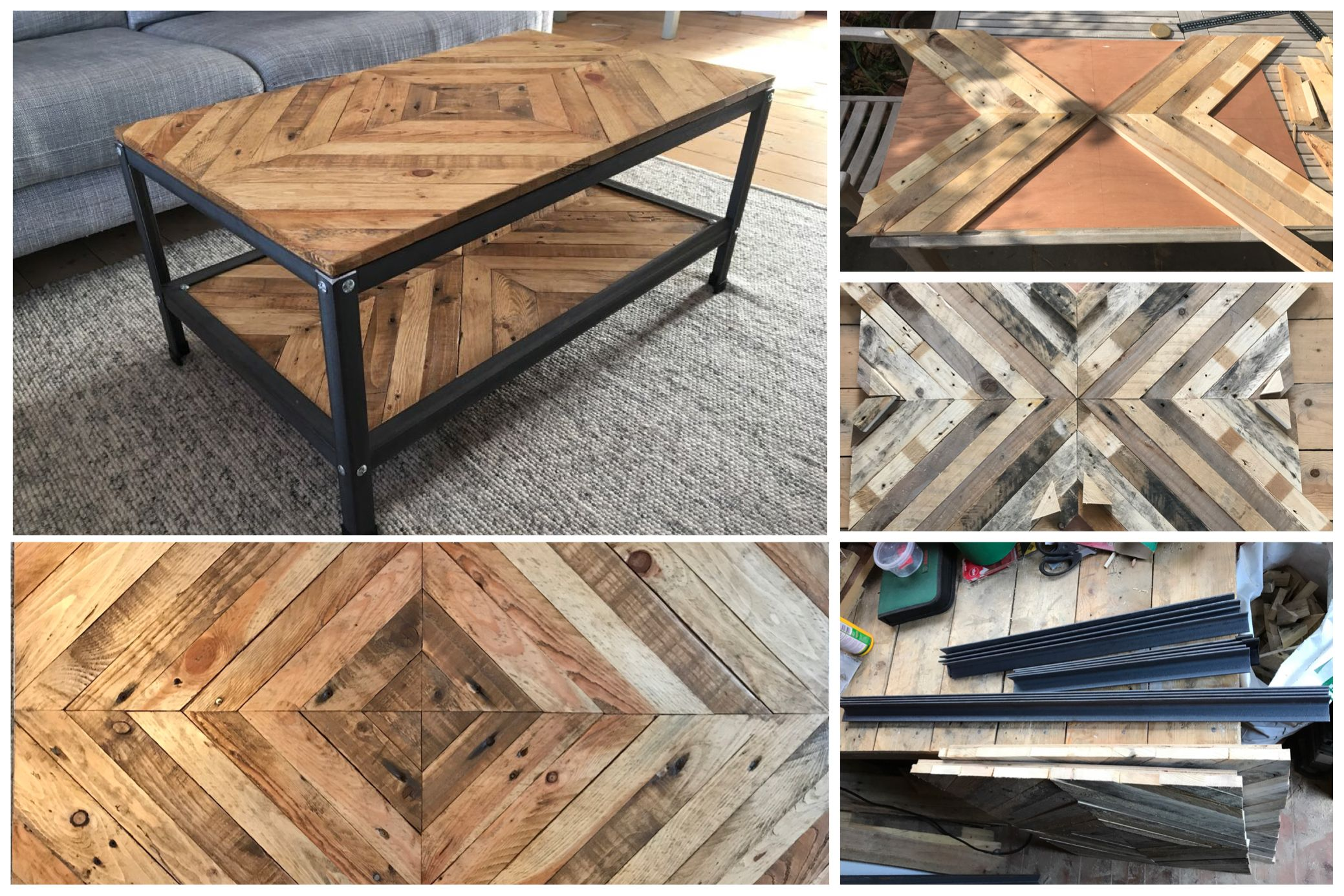 Coffee Table Made Out Of Pallet Wood And Mild Steel Pallet Projects Decor Coffee Table Wood Wood Pallets [ 1386 x 2078 Pixel ]