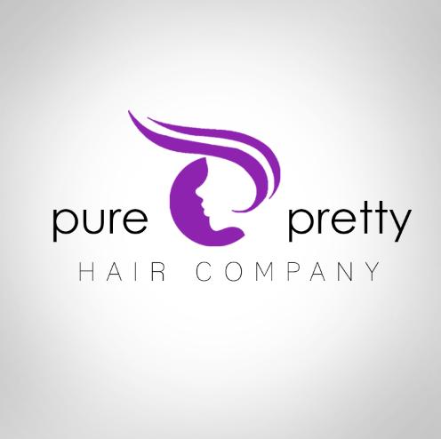 logo design pure pretty hair